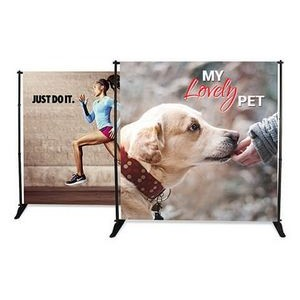 Adjustable banner stand 8ft x 8ft Vinyl graphic package