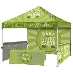 Event Tent Package #4 – Tent + Throw + Full Back Wall + 2 Half Walls