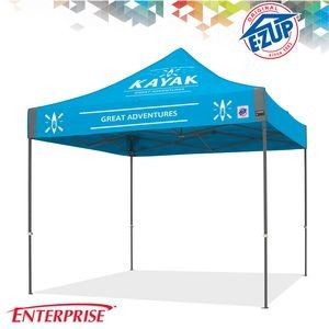 Enterprise™ 10' x 10' Color Imprint Commercial Tent w/ Steel Frame