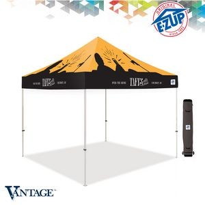 Vantage™ 10' x 10' Full-Bleed Digital Print Tent w/ Steel Frame