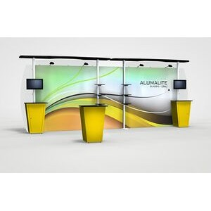 Alumalite 20' Classic Straight Display with Graphics